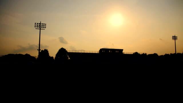 Estadio de fútbol de Silhouette - vídeo