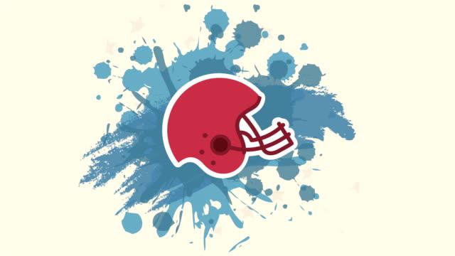 vídeos de stock e filmes b-roll de animação vídeo de futebol americano - liga desportiva