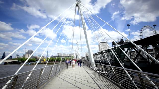 Footbridge in London, England video