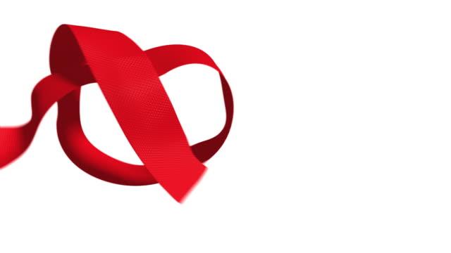 내 valentine - ribbon 스톡 비디오 및 b-롤 화면