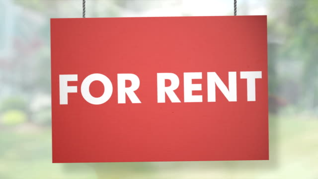 For rent sign hanging from ropes. Luma matte included so you can put your own background. Cardboard For rent sign hanging from ropes. Luma matte included so you can put your own background house rental stock videos & royalty-free footage
