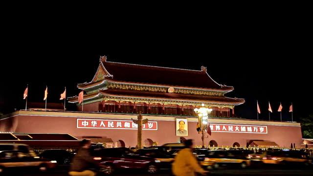Forbidden city at night video