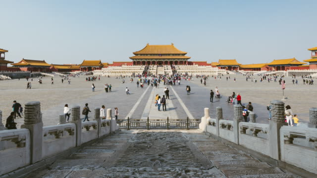 t/l tu forbidden city, beijing, china - landmarks stock videos and b-roll footage