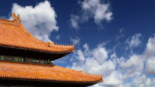 forbidden city, beijing, china -- was the chinese imperial palace from the ming dynasty to the end of the qing dynasty - ming video stock e b–roll