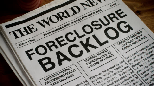 foreclosure headline - foreclosure stock videos & royalty-free footage