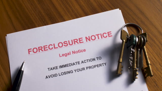 foreclosure notice - bankruptcy stock videos & royalty-free footage