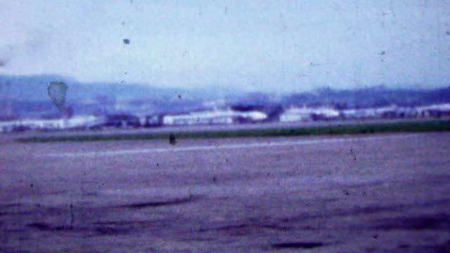 1951: US Foreign Soil Army Base runway airfield. video