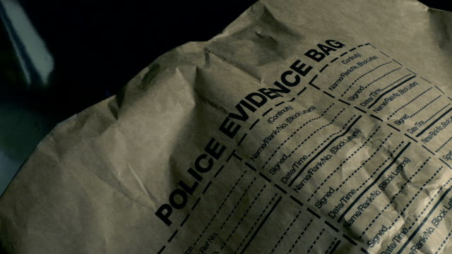 Forensics Evidence Bag At Police Station video