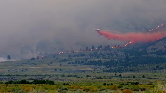 vídeos de stock e filmes b-roll de incêndio florestal queda de água - califórnia