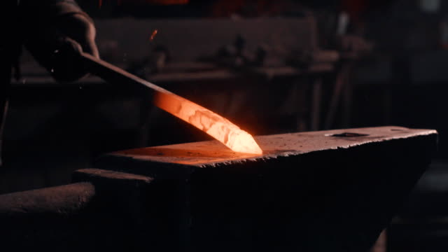 Forging of melted metal detail video