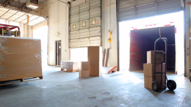 Forklift in Warehouse video