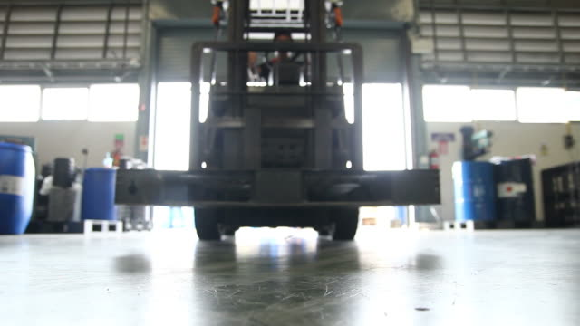 Forklift in warehouse Forklift in warehouse forklift stock videos & royalty-free footage