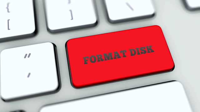 Format Disk button on computer keyboard. Key is pressed. User presses keypad with icon symbol, camera pan, different graphics on keyboard available for download. Using computers contemporary technology, browsing internet pushing buttons. Format Disk button on computer keyboard. Key is pressed. User presses keypad with icon symbol, camera pan, different graphics on keyboard available for download. Using computers contemporary technology, browsing internet pushing buttons. letterhead stock videos & royalty-free footage