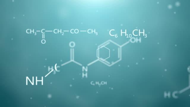 Formeln der Chemie-animation – Video