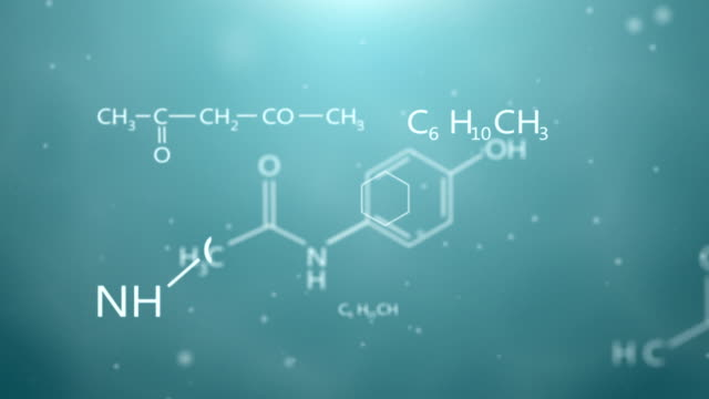 Formulas of chemistry animation video