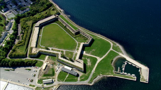 Fort Adams State Park - Aerial View - Rhode Island,  Newport County,  United States video