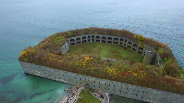 Fort Gorges aerial video video
