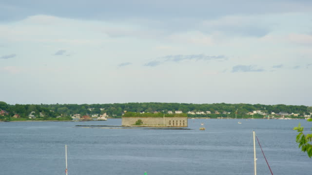 Fort Gorges (Island) in the Middle of Casco Bay, Maine on a Partly Cloudy Day (Atlantic Ocean) Fort Gorges (Island) in the Middle of Casco Bay, Maine on a Partly Cloudy Day (Atlantic Ocean) fort stock videos & royalty-free footage