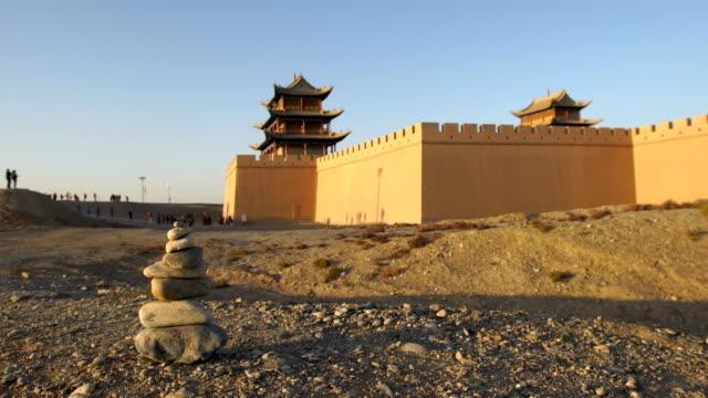 fort jiayuguan av muren, kina - chinese military bildbanksvideor och videomaterial från bakom kulisserna