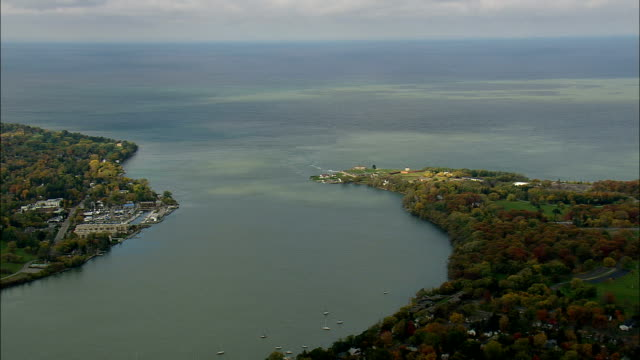Fort Niagara  - Aerial View - New York,  Niagara County,  United States video