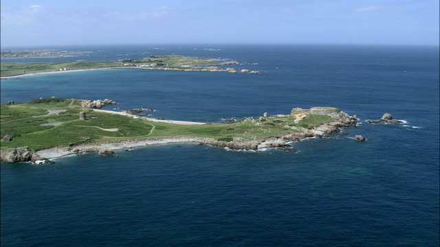Fort Pembroke  - Aerial View - helicopter filming,  aerial video,  cineflex,  establishing shot,  Guernsey video
