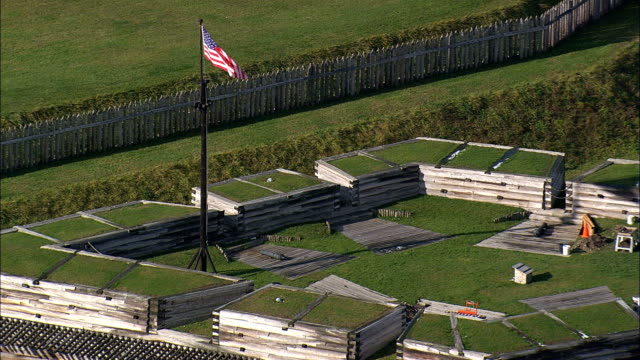 Fort Stanwix  - Aerial View - New York,  Oneida County,  United States video