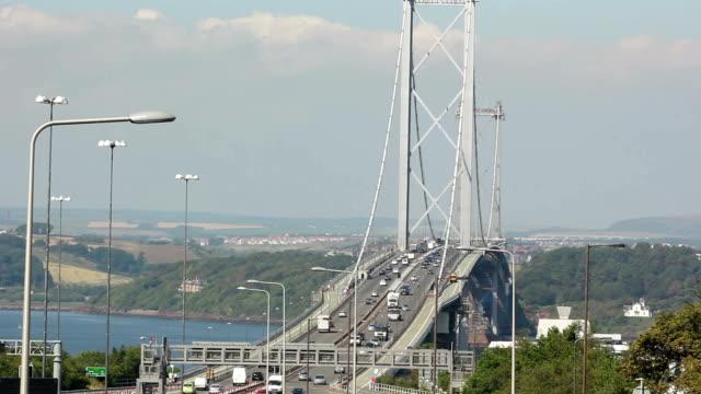 Forth Road bridge Edinburgh, Scotland - Close video