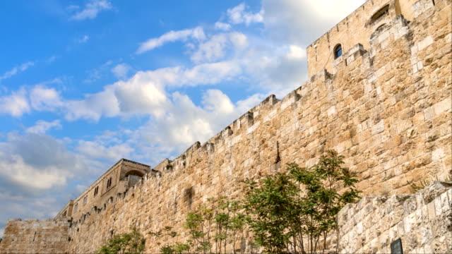 mittelalterliche mauern von jerusalem - tora stock-videos und b-roll-filmmaterial