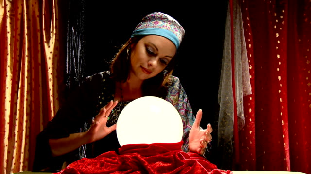 fortune teller crystal ball psychic video