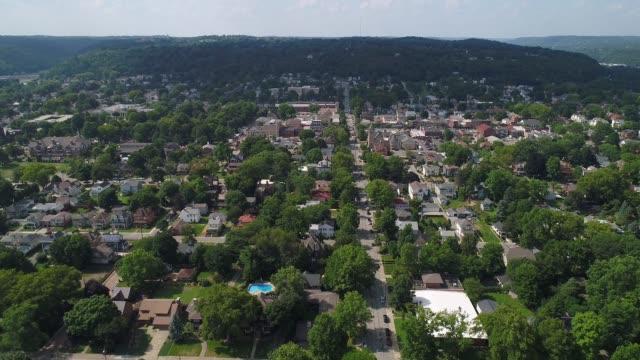 Forward Aerial Establishing Shot of Pittsburgh Neighborhood video