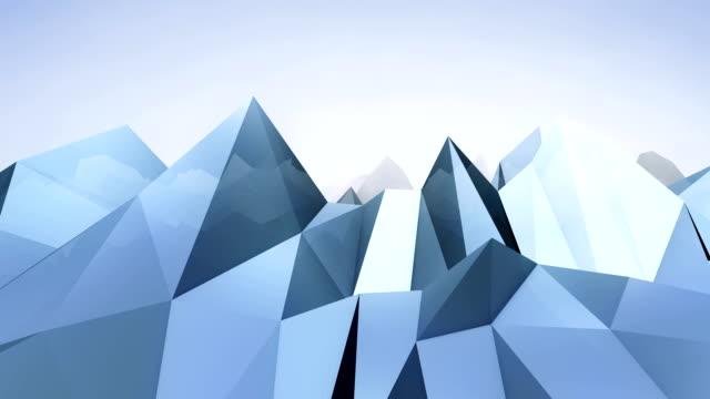 Forward moving abstract lowpoly vector background. 1 video