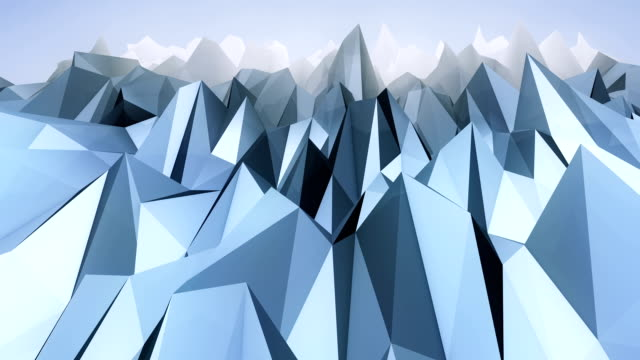 Forward moving abstract lowpoly vector background. 2 video