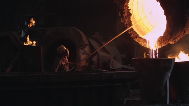 Foundry Industry. Melted Metal In Ladle At The Metallurgical Plant. Foundry Industry. Melted Metal In Ladle At The Metallurgical Plant. Full HD. iron metal stock videos & royalty-free footage