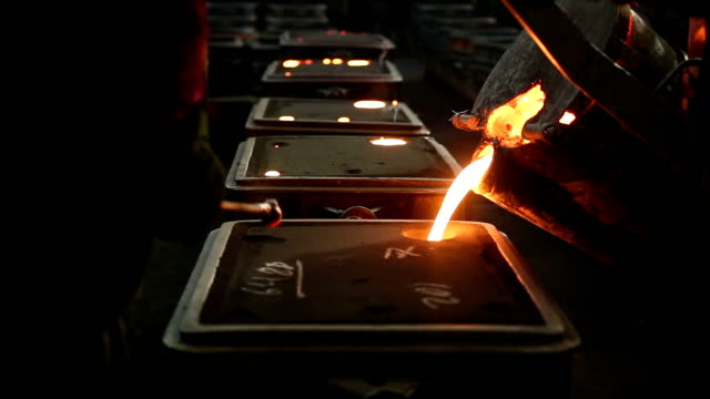 gjuteri - metallindustri bildbanksvideor och videomaterial från bakom kulisserna