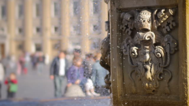Fountain at Saint Peter's Square in Vatican, Rome video