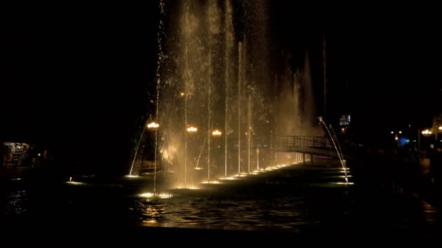 Fountain at the night - Georgia video