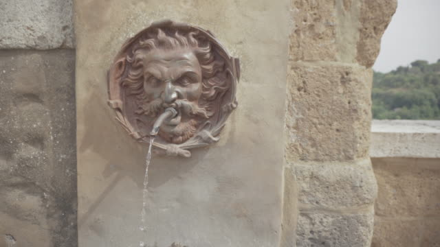 Fountain detail at Pitigliano, Tuscany video