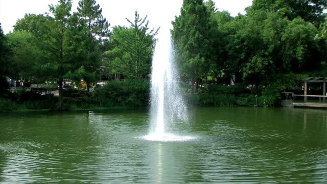 Fountain in Park Slow Zoom (NTSC_link_below) video