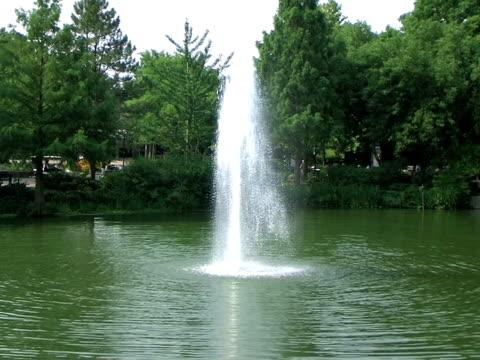 Fountain in Park Slow Zoom (HD_link_below) video