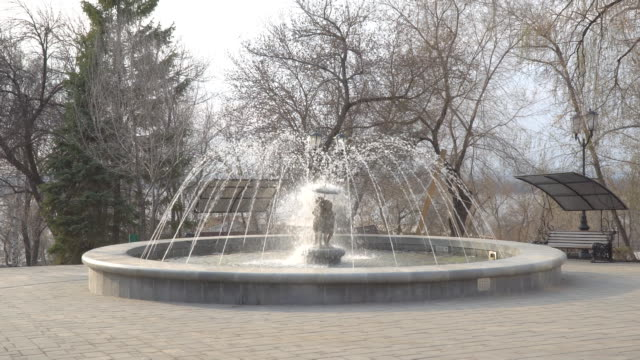 Fountain in the park video