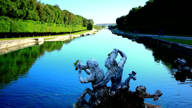 Fountain of Caserta Royal Palace Fountain of Caserta Royal Palace, Reggia, Caserta, Campania, Italy palace stock videos & royalty-free footage