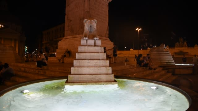 Fountain of the lions in Rome