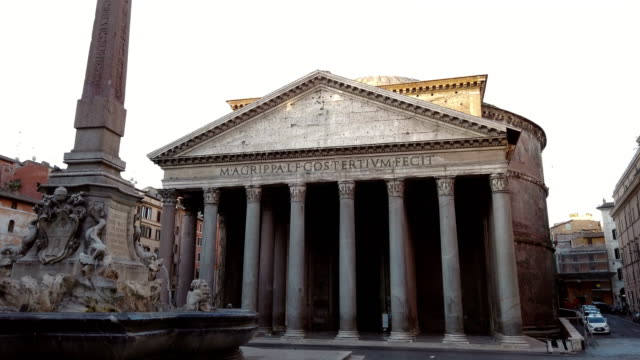 Fountain of the Pantheon in Rome video