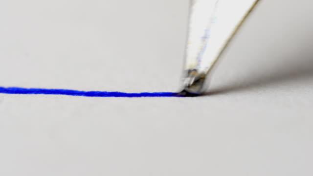 vídeos de stock e filmes b-roll de fountain pen close up. - caneta