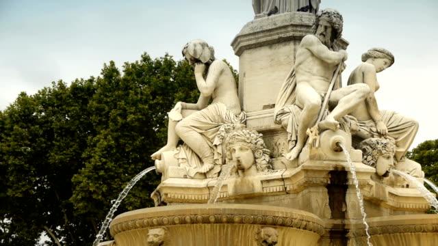 Fountain Pradier, Nimes France video