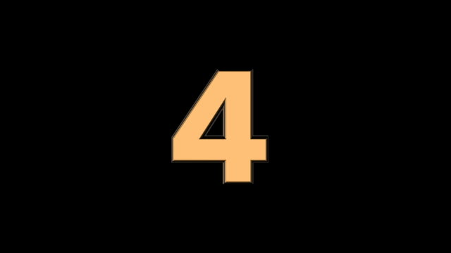 Four- 3D animated Golden Cinematic Text Number Falling video