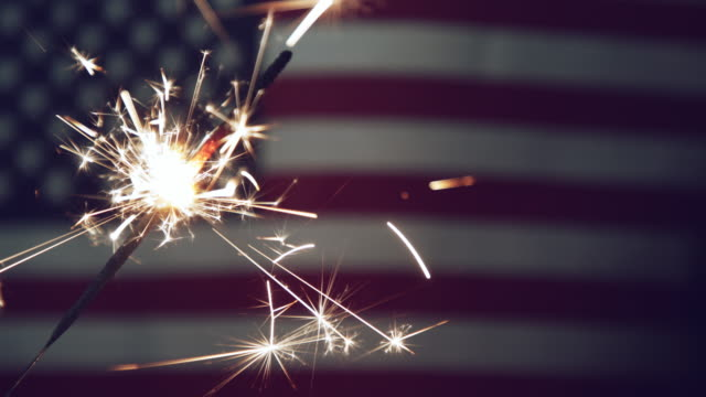 Fourth of July Sparkler Video - 4K video