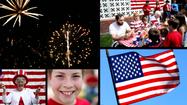 Fourth of July Video Montage. Fourth of July Video Montage. family 4th of july stock videos & royalty-free footage