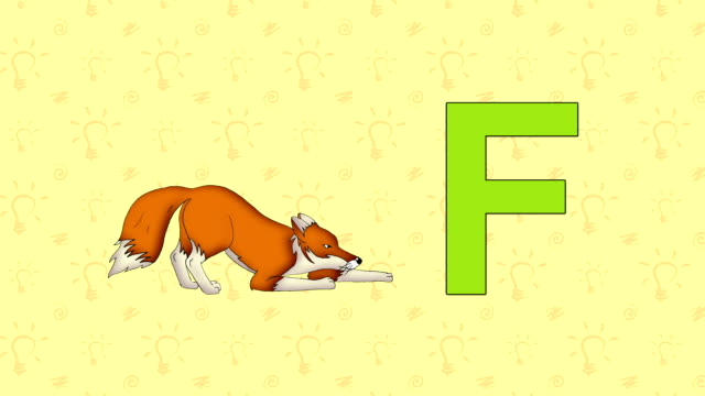 Fox. English ZOO Alphabet - letter F video
