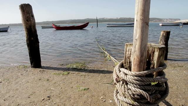 Foz do Arelho river boat beach video